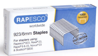 RAPESCO Agrafes 923/8, 1.000 pièces, galvanisé