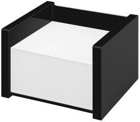 WEDO Bloc cube avec boîtier 'black office', noir