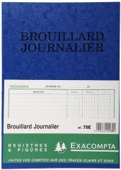 EXACOMPTA Piqûre 'Brouillard Journalier', 270 x 195 mm