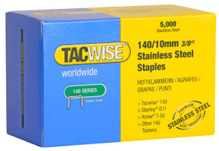 TACWISE Agrafes 140/10 mm, acier inoxydable, 2.000 pièces