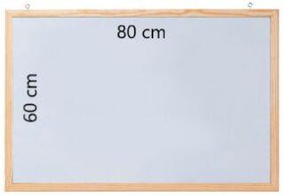Tableau blanc laqué avec cadre en bois 80 x 60 cm - FRANKEN