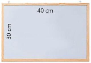 Tableau blanc laqué avec cadre en bois 40 x 30 cm - FRANKEN