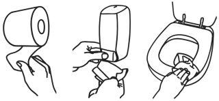 Fripa Distributeur désinfectant siège WC, plastique, blanc