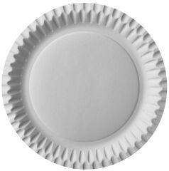 STARPAK Assiette en carton, rond, diamètre: 230 mm, blanc