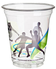 PAPSTAR Gobelet en plastique 'Football', 0,3 l