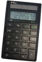 TWEN Calculatrice de bureau ECO 8, écran LCD à 8 chiffres,