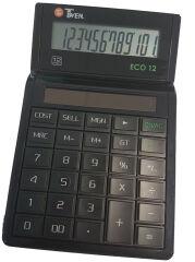 TWEN Calculatrice de bureau ECO 12, écran LCD à 12 chiffres,