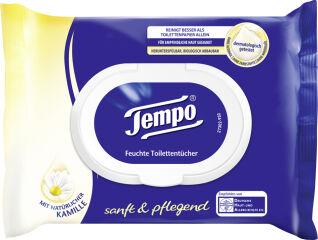 Tempo Lingettes humides de toilette doux & soigneux