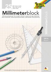 folia Bloc papier millimétré, A4, 80 g/m2, 25 feuilles