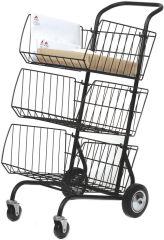 ALBA Chariot pour transport du courrier, en métal, noir