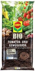 COMPO BIO Terreau tomates et légumes sans tourbe, 40 litres