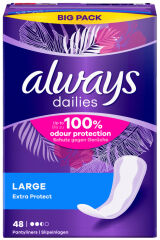 always Protège-slip Extra Protect Large, pack promo