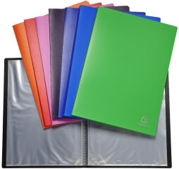 EXACOMPTA Protège-documents Opaque, A4, PP, assorti