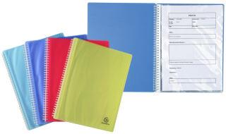 EXACOMPTA Protège-documents spiralé Linicolor, 80 vues, A4