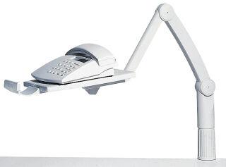 Accessoire, Hansa Plateau d'extension pour bras téléphone, gris clair