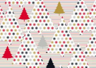 SUSY CARD Papier cadeau de Noël 'Trees red/black'