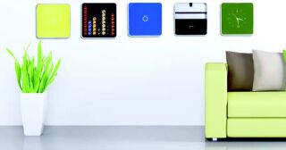 PAPERFLOW Coffret à clés multiBox, avec horloge, blanc