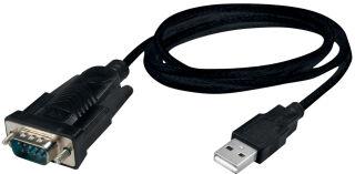LogiLink Câble adaptateur USB 2.0 - RS232, noir, 1,5 m
