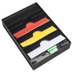 PAPERFLOW Organiseur de tiroir, 6 compartiments, gris