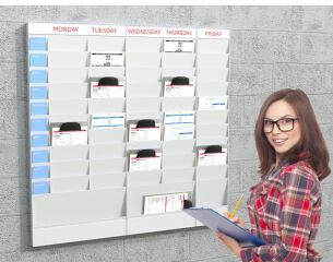PAPERFLOW Planificateur de bureau mural, 10 casiers, A5