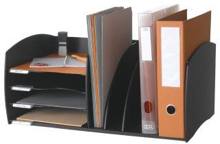PAPERFLOW Système de rangement S, 4 compartiments, gris