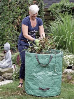TerCasa Sac à végétaux, 272 litres, en polypropylène, vert