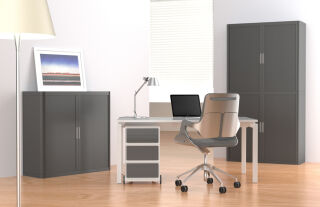 PAPERFLOW Caisson mobile 'easyBox', 4 tiroirs, blanc/blanc