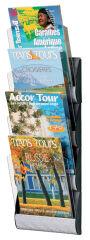 PAPERFLOW Porte-brochures mural Integral, DIN long, gris alu