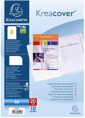 EXACOMPTA Protège-documents Kreacover, A4, PP, blanc