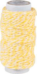 KNORR prandell Ficelle déco / Cordon déco, 20 m, jaune