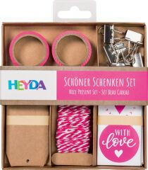 HEYDA Kit d'emballage 'Cadeaux décoratifs', gris clair