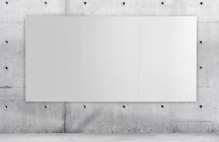 Bi-Office Tableau blanc en plaque 1.480 x 980 mm, sans cadre