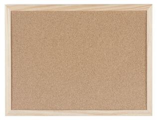 Bi-Office Tableau en liège avec cadre en bois, 400 x 300 mm
