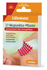 Lifemed Pansement d'acupuncture, rouge, 3 tailles