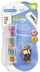 RAPESCO Pince distributrice de clips Supaclip 40, colorés
