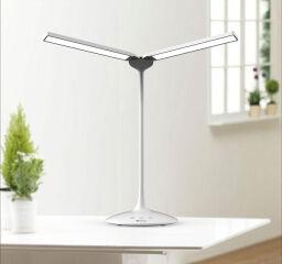 ALBA Lampe de bureau LED 'LEDTWIN', rechargeable, noir