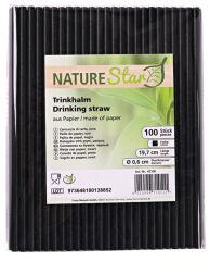 NATURE Star Paille en papier, 197 mm, noir