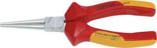 HEYCO Pince ronde VDE, longueur: 160 mm, rouge/jaune