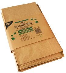 PAPSTAR Sac compostable, 120 litres, brun