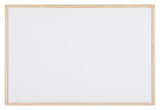 Bi-Office Tableau blanc, cadre en bois, (L)900 x (H)600 mm