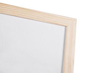 Bi-Office Tableau blanc, cadre en bois, (L)600 x (H)400 mm