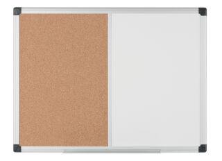 Bi-Office Tableau mixte, tableau blanc / liège, 600x450 mm
