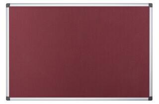 Bi-Office Tableau en feutre 900 x 600 mm, bordeaux