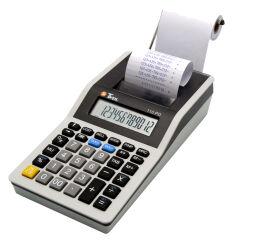 TWEN Calculatrice imprimante 110 PD, gris / noir