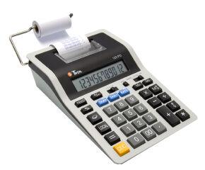 TWEN Calculatrice imprimante 120 PD, gris / noir