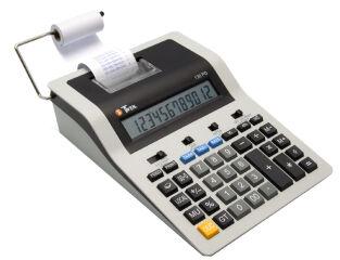 TWEN Calculatrice imprimante 130 PD, gris / noir