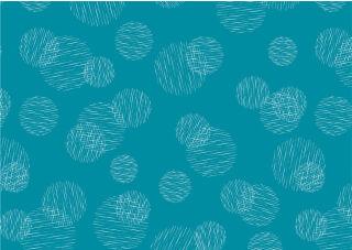 SUSY CARD Papier cadeau 'Scribbled cercles pétrole', rouleau