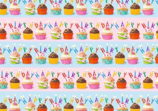 SUSY CARD Papier cadeau 'Cupcakes', sur rouleau