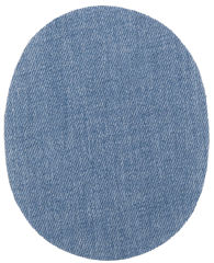 KWM Patch thermocollant, jeans, bleu clair