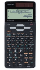 SHARP Calculatrice scolaire EL-W506T-GY, couleur: noir/gris